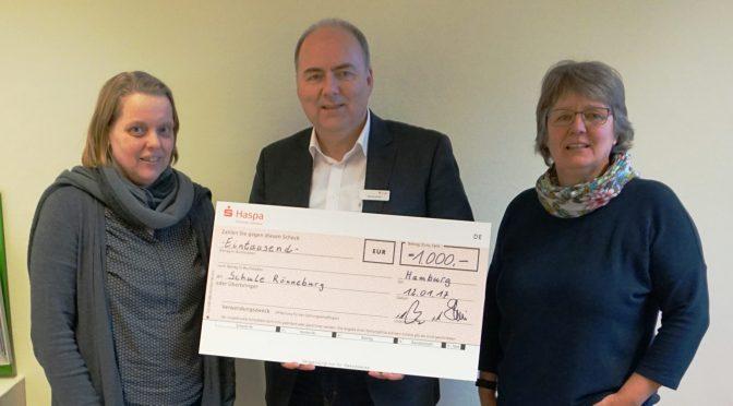 Haspa sponsert Zirkus-Projektwoche mit 1000 Euro