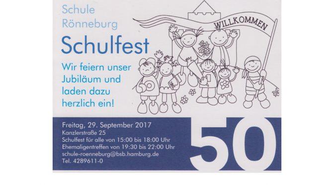 Schul-Jubiläum am 29.09.2017