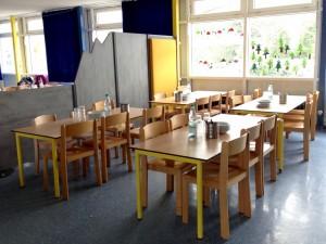 Mittagessen in Tischgruppen