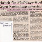 Zeitungsartikel zur Abstimmung über die 5-Tage-Woche