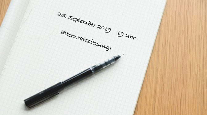 Einladung zur Elternratssitzung im September