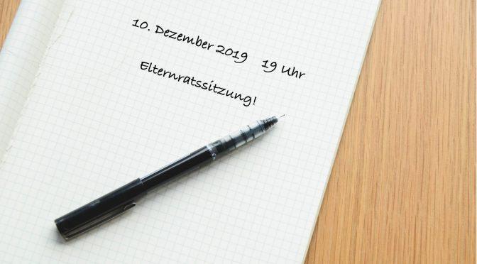 Einladung zur Elternratssitzung im Dezember