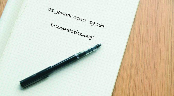Einladung zur Elternratssitzung im Januar 2020